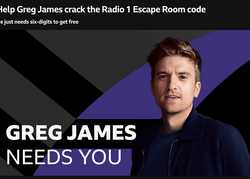 Greg James gets locked in!